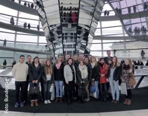 Spannende Stunden verlebte das Vorreiter-Team im Bundestag.