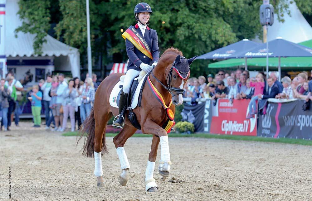 Sir Heinrich OLD unter Anja Wilimzig wurde im vergangenen Jahr Champion der sechsjährigen Dressurpferde.