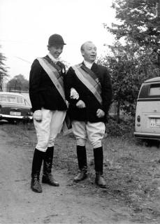 """1963 wurden sie am selben Tag Deutsche Meister: Maria Günther auf Sambesi im Springen und ihr Ehemann Walter (""""Bubi"""") Günther in der Dressur mit Adjutant."""