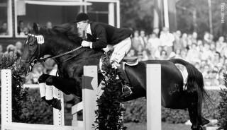 Maria Günthers erfolgreichstes Pferd war Sambesi, mit dem sie 1963 Deutsche Meisterin wurde.