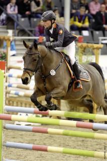 Sieg: Calvin mit Soprano im Bundesnachwuchschampionat Ponyspringen im Januar
