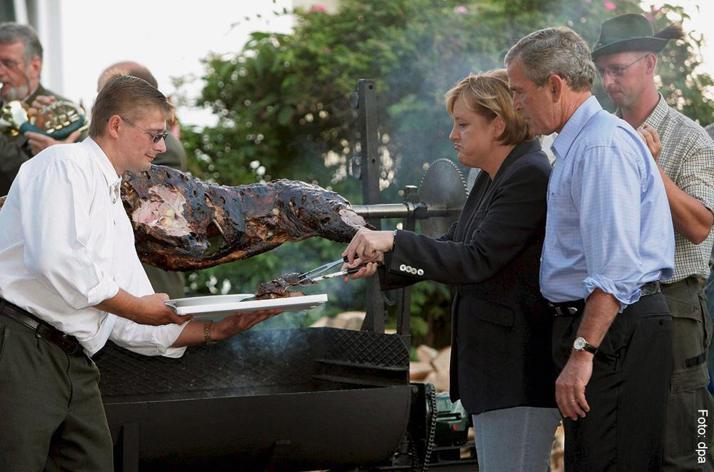 In Trinwillershagen fand das Grillfest der Kanzlerin mit US-Präsident George Bush statt.