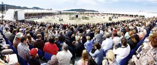 Der große Turnierplatz auf dem Hagener Borgberg ist alljährlich Schauplatz großer internationaler Turniere.