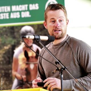 Fußballtrainer und Trainerausbilder Martin Hugel aus Münster erklärte den Zuhörern, wie die Jugend in seiner Sportart gefördert wird.