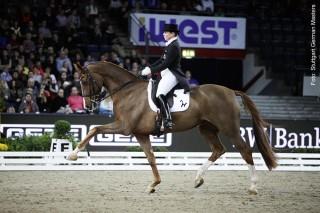 Die Weltelite ist – wie hier Isabell Werth mit Bella Rose im vergangenen Jahr – bei den Stuttgart German Masters am Start.
