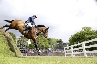 Derby-Sieger 2015: André Plath mit AFPs Cosmic Blue Foto: Lafrentz